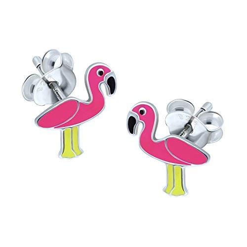 Pink Flamingo Ohrringe - Sterling Silber mit Luxus-Geschenkbox