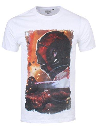 Deadpool Sword Pose T-Shirt weiß Weiß
