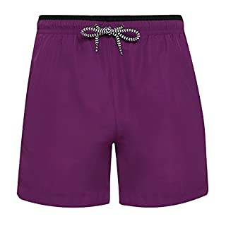 Asquith Fox Mens Swim Shorts (S) (Purple/Black)