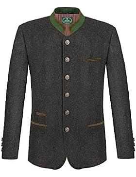 MOSER Trachten Herrensakko Loden anthrazit grün braun Sulm 114511 von Allwerk, Material Wolle, Stehkragen