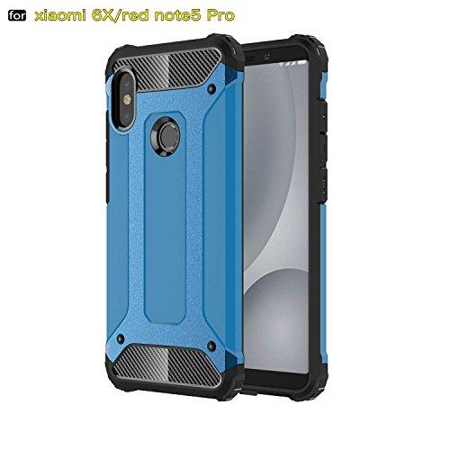 xinyunew Funda Xiaomi Redmi Note 5 Pro, 360 Grados Protección +Vidrio Templado Protector Pantalla Silicona Caso Cover Case Carcasas TPU + plastico Anti Arañazos de Protectora - Azul