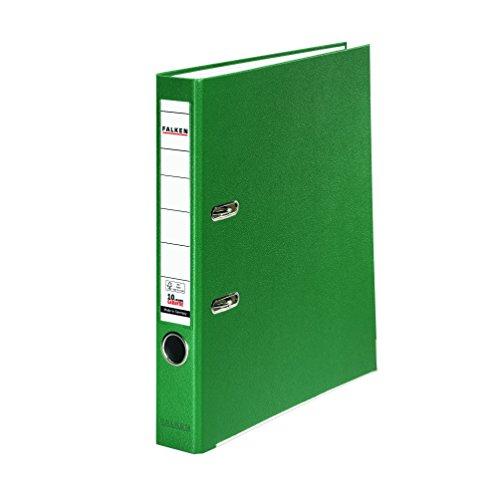 Preisvergleich Produktbild Falken PP-Color Kunststoff-Ordner 5 cm schmal DIN A4 grün Ringordner Aktenordner Briefordner Büroordner Plastikordner Schlitzordner