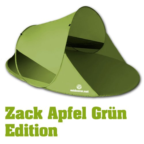 outdoorer Pop up Strandmuschel Zack II, grün, UV 60 -