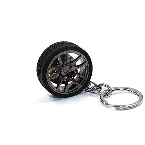 LivelyBuy Schlüsselanhänger Auto Felge Rad Reifen mit Bremse mit Keyring Miniatur-Dekoration mit accessary Souvenir Geschenk - Anhänger-reifen-halter