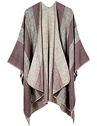 Amazon.fr   Grosse Echarpe Femme - Ponchos et capes   Pulls, Gilets ... f535e21357e