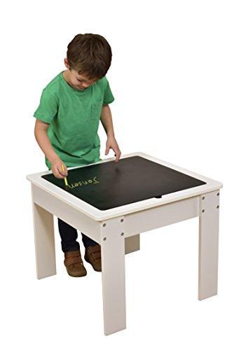 Liberty House Toys Mesa de Actividades Cubierta Reversible, de Madera, Color Blanco