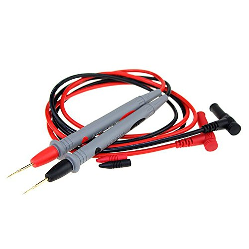fang FAN Sonden Draht Stift Kabel Tisch Stift-Sonde Messleitungen Pin Universal Digital Multimeter Multi Meter Tester Blei Sonde Draht Pen Kabel 20 A (Gray+Red) Digital Multi Meter Tester