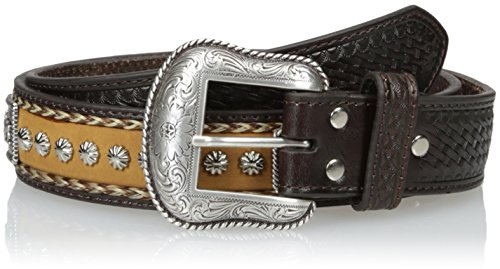 Nocona Herren Concho-Gürtel im Cowboy-Design - Braun - 46 (Nocona Cowboy Gürtel)