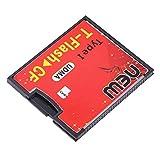 Red & Black 4.3 x 3.5x0.4cm Ausgestattet mit Push-Push-Buchse T-Flash zu CF Typ1 Compact Flash-Speicherkarte UDMA-Adapter Bis zu 64 GB