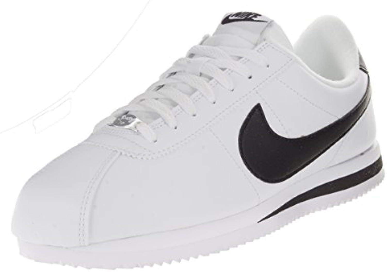Zapatillas Casual Nike Men's Cortez Basic Leather Blanco / Negro / Metalizado, Hombre 10 Estados Unidos