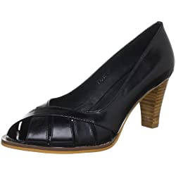 Sofie Schnoor HORSE OIL LEATHER OPEN TOE T134C, Damen Pumps, Schwarz (Black), EU 39