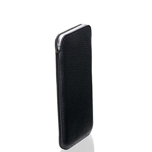 KD-Essentials-iPhone-6-Echt-Ledertasche-Schwarz-Slimdesign