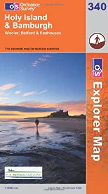 Holy Island and Bamburgh (OS Explorer Map)