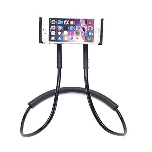 CRSM Flexible Handyhalterung Hängenden Hals Faul Halskette Halterung Smartphone Halterung Für iPhone Hirse Huawei Schwarz