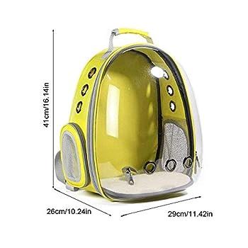 Sac à Dos Portable pour Chat Chien Animal de Compagnie Sac de Transport à roulettes Transparent Respirant pour Voyage Randonnée Camping, Sac de Transport pour Chat Astronaute, Vue élégante