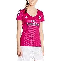 Real Madrid F.C.-Maglietta da donna, modello Away, stagione 2014/2015 Rosa rosa LARGE=16-18
