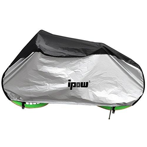 Ipow® 210D Oxford Housse de Protection Vélo/Cyclisme Couvre-Velo VTT waterproof étanche poussière/pluie/rayon uv, 197 x 69 x 108cm