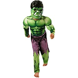 Hulk - Disfraz de Hulk para niño, S (Rubie's Spain 889213-S)