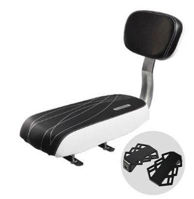 Erwachsene Kinder-Fahrrad-Sattel Kinder Gemütlich Sitz Reisen MTB elektrisches Fahrrad Kissen Stuhl + Pedal