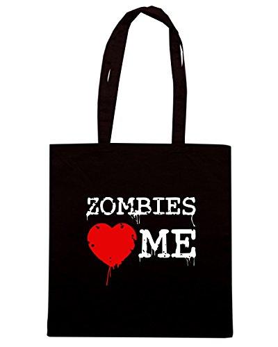 T-Shirtshock - Borsa Shopping TZOM0075 zombies heart me Nero