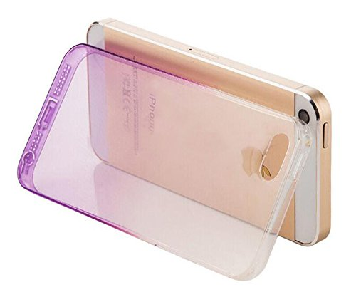 Nnopbeclik [Coque Iphone 5S Silicone / Coque Iphone SE Transparente / Coque Iphone 5 Apple] Dégradé de Couleur Style Soft Doux Transparente Backcover Housse pour Iphone 5 Coque anti choc / Iphone 5S C rose