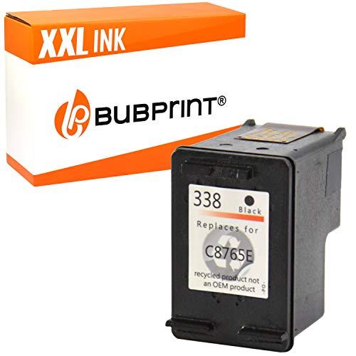 Bubprint Druckerpatrone kompatibel für HP 338 HP338 für Deskjet 5740 6500 9800 Officejet 100 150 Mobile K7100 H470 Photosmart C3100 8050 8450 Schwarz -
