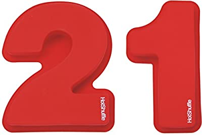 Large Silicone Number 21 Cake Tin Mould 21st Birthday Gift 2 1