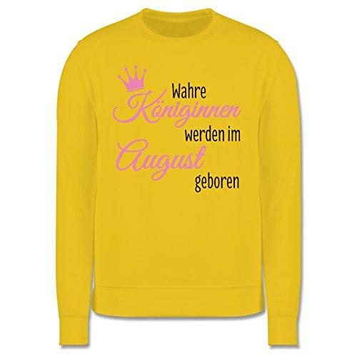 Geburtstag - Wahre Königinnen werden im August geboren - Herren Premium Pullover Gelb