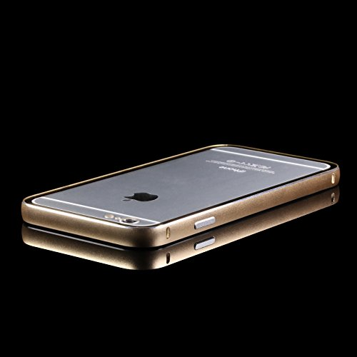 Original UrCover® Aluminium Bumper Transparente Rückschale für das Apple iPhone 6 Plus (5.5) Alu Schutzhülle Zubehör Hülle Schale Case Cover Etui Silber Chamapger Gold