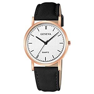 Men Women Smart Watches, Digital Watch,Fashion Womens Ladies Watches Geneva Faux Leather Analog Quartz Wrist Watch