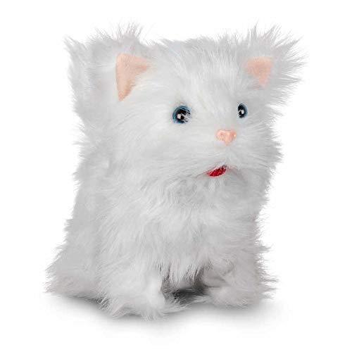 Tobar - 28774 - Peluche animée chaton blanc qui marche et miaule, Collection Animigos