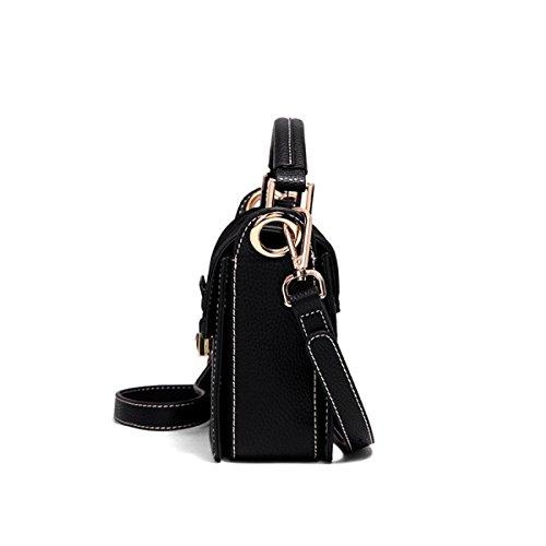 Handtasche Flut Koreanische Version Der Wilden 2018 Kleine Quadratische Tasche Mode Schultertasche Weibliche Umhängetasche Black