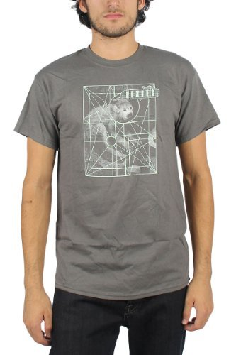 Pixies - Mens Monkey Grid T-Shirt in Charcoal, Size: Large, Color: Charcoal -
