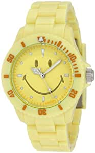 Smiley Happy Time Unisex-Armbanduhr Analog gelb WGS-PPYV01