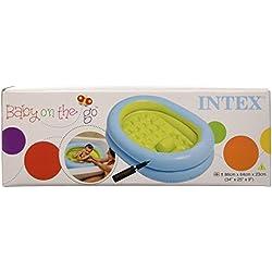 Intex - Bañera para bebes suelo hinchable, 86x64x23 cm