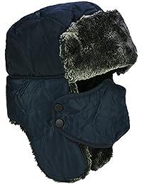 DOXHAUS Unisex Wintermütze mit Ohrenklappen, Fellmütze, Kunstfellmütze, Fliegermütze; hält warm beim Skifahren, Schlittschuhlaufen und Anderen Outdoor-Aktivitäten; in Verschiedenen Farben erhältlich