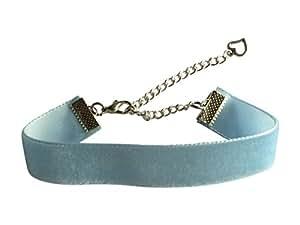 Classic Plain Blue Gothic Emo 16mm Choker Necklace Chain