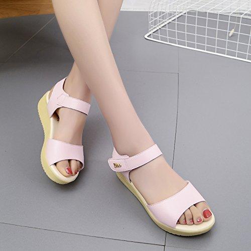 Lgk & fa estate sandali da donna estate di spessore inferiore Slope segue  sandali antiscivolo prevenzione