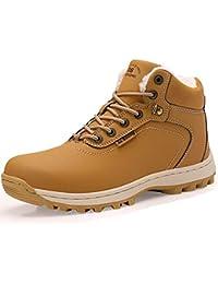 ABTOP Hombre Botines Zapatos Botas Nieve Invierno Botas Impermeables Fur  Forro Aire Libre Boots 550218a8ec0