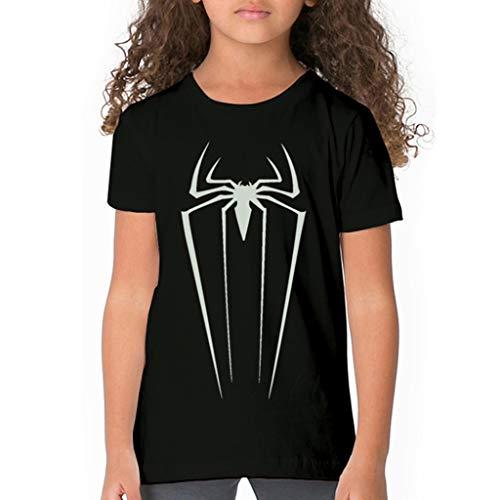 XXW Leuchtendes Spiderman-Logo Scherzt T-Shirt Glühen Im Dunklen Spider-Man-Kindert-Shirt Leuchtstoffspider-Man-Jungen-Mädchen-T-Shirt Oberseiten