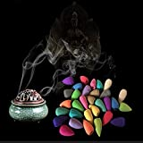 Glomixs Incensiere, detentore di incenso, Flusso fumante Ceramica Bastoni di riflusso incensiere Bastoncini di incenso Stagno Incensiere
