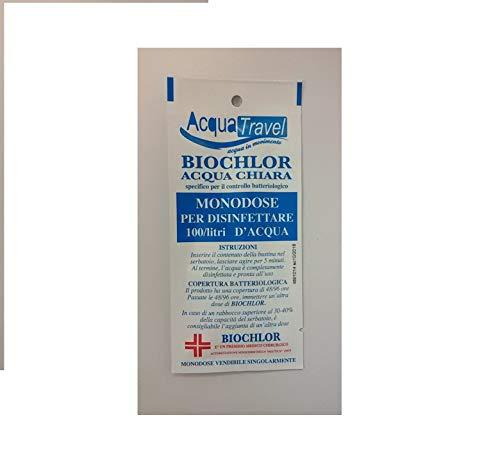 5 Bustina Biochlor Monodose Disinfettante Acque Chiare Camper Barca