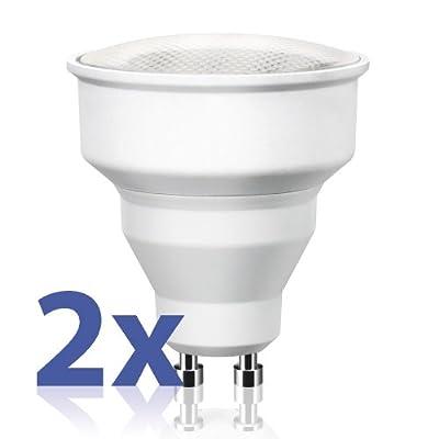 Gu10 Energiesparlampe In Reflektorform Von Parlat 230 Volt Ac R50 80 Abstrahlwinkel Warmwei 6 Watt Entspricht 20w Glhlampe Mini 2 Stck Packung von LEDs Com GmbH
