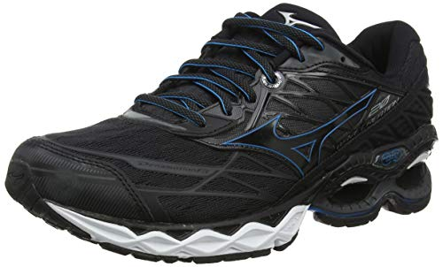 Mizuno Wave Creation 20 Zapatillas de Running,  Hombre,  Negro Black/Blue Jewel 09,  43 EU