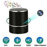 Camera Espion WiFi Cam Spy Enceinte Bluetooth Camera Cachée TANGMI HD Mini Cam sans Fil Caméra de Sécurité avec Lentille Rotative à 180 ° Détection de Mouvement Vidéosurveillance
