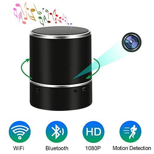 Telecamera Spia Nascosta WIFI Spy Cam Bluetooth Speaker TANGMI 1080P HD Mini Microcamere Spia Lente di Rotazione Orizzontale 180° Microcamera Rilevazione di Movimento