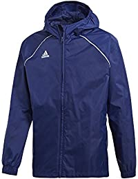 adidas CORE18Rain Jacket Children's Rain Jacket, Children's, Core18 Rain Jacket, black/white, 116 (EU)