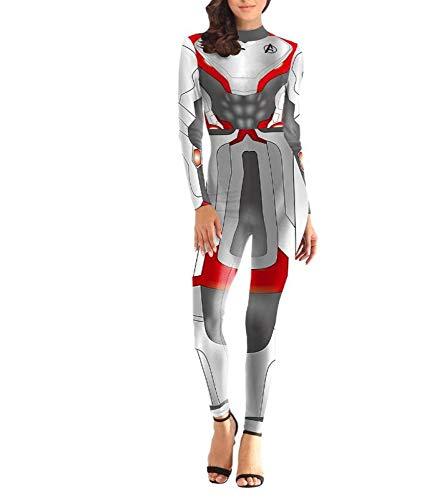 POIUYT Damen Erwachsene Kostüm Horror Halloween Cosplay Body Maskerade Kostüm Erwachsenes Kostüm,Outdoor-Strumpfhosen, Sexy Kostüme Für Maskerade,Grey-XL