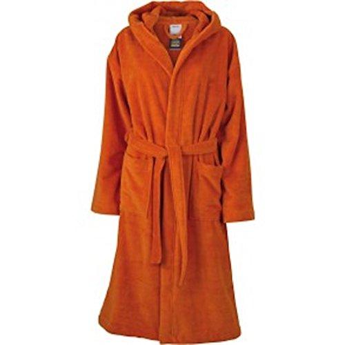 Functional Bath Robe Hooded Bademantel mit Kapuze * Farbe: verschiedene Farben * Gr. S-XXL Dark Orange