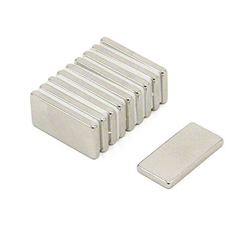 Magnetastico | 40 Stück Neodym Magnete N52 Rechteck 20x10x2 mm | Kühlschrankmagnet Pinnwandmagnet Dauermagnet Whiteboardmagnet Haftmagnet Rechteckmagnet Quadermagnet